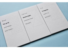 Recycled paper notebooks (3 pcs)