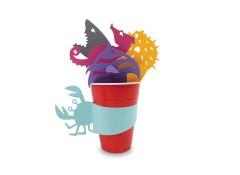 Party cup sleeves - Aqua (5 pcs)