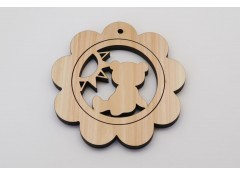 2 in 1 coaster and trivet set - Bear