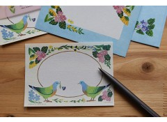 Botanical season letter set