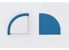 Corner bookmark - Blue