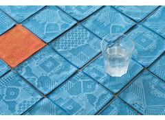 Tenp sashiko woven coaster - Blue