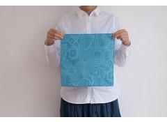 Tenp sashiko hanky / placemat - Blue