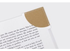Corner bookmark - Camel