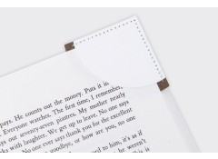 Corner bookmark - Brown