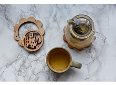2 in 1 coaster and trivet set - Castle