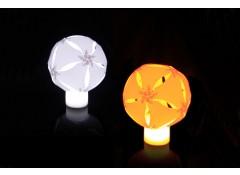 DIY origami LED candle light - yellow