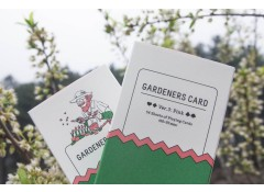 Gardeners playing cards