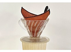 Persimmon-dyed linen coffee filter S