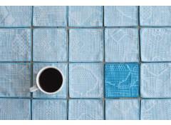 Tenp sashiko woven coaster - L.Blue