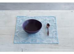 Tenp sashiko handky / placemat - L.blue