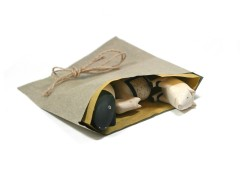 Eco gift bag & tag set - Natural (4)
