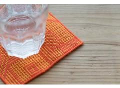 Tenp sashiko woven coaster - Orange