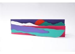 Handmade Scenery zine card- Purple