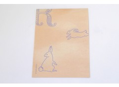 Rabbit mini writing paper set