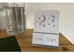 Perpetual calendar - White (last)