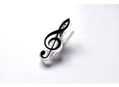 Treble clef clip