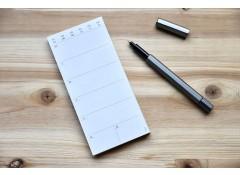 Eco weekly schedule pad