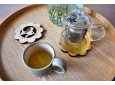 2 in 1 coaster and trivet set - Flower